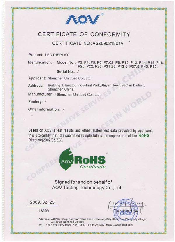 unit led certificates company honors