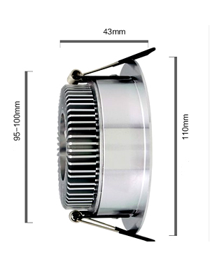 ce,rohs 9w led downlight