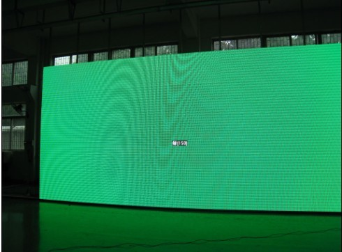 ph7.62mm indoor led screen green testing