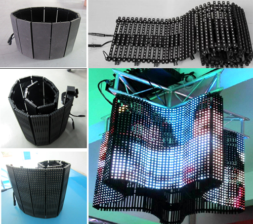 soft led curtain display