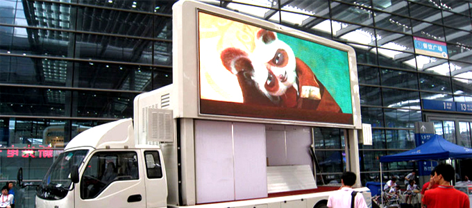 led truck display\