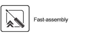 Fast assembly unit led display
