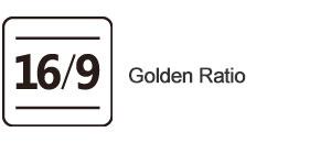 Golden ratio Unit led display