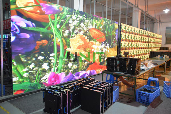 indoor 640x640mm p10 rental LED display