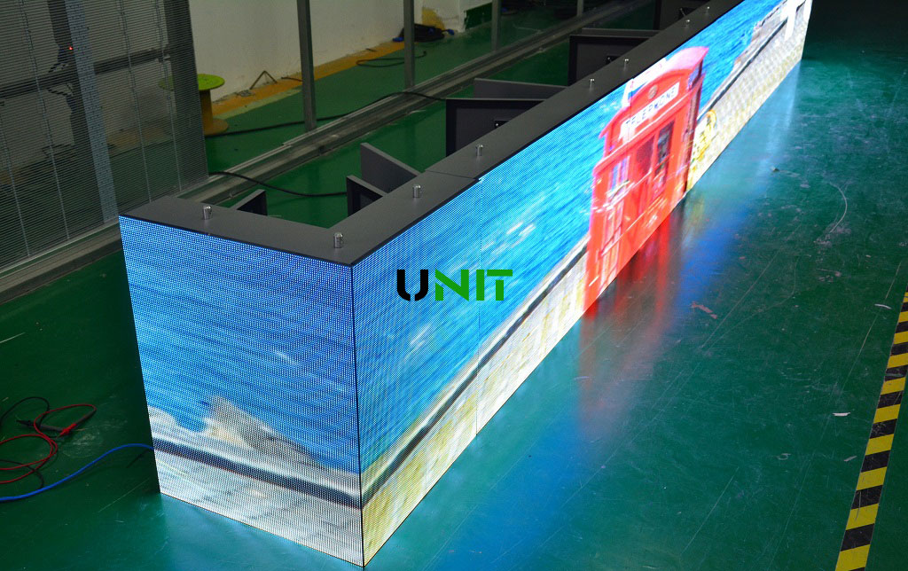 led right angle display