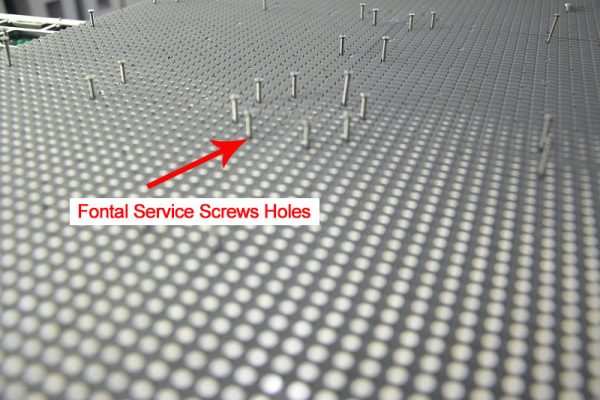 P10 front service LED display module Screws