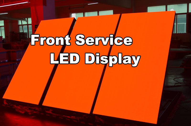 outdoor front service LEd display