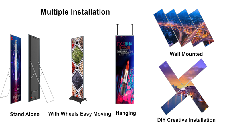 How to install digital LED display?