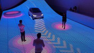 Interactive LED floor exhibition