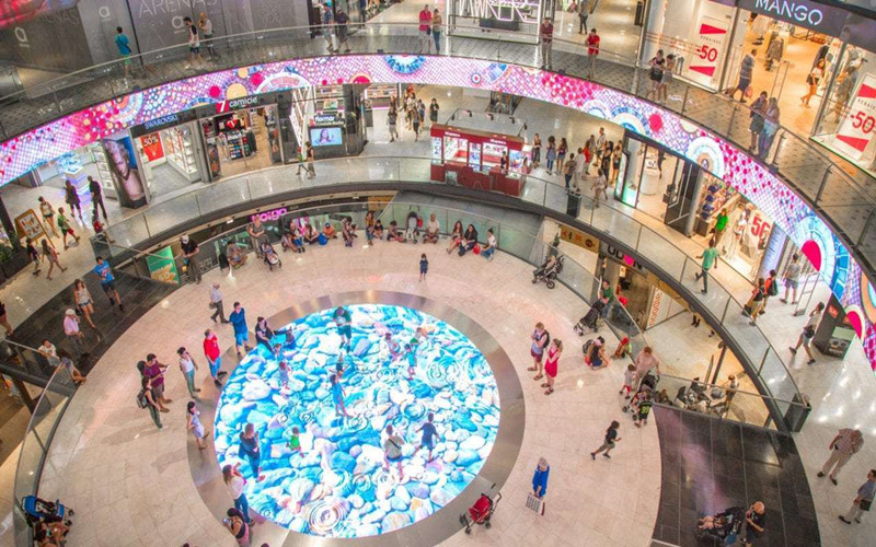 Shopping mall LED interactive floor