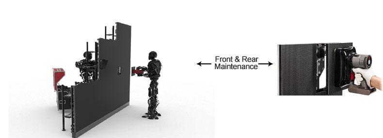 Front & Real Maintenance led display
