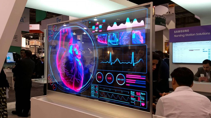 Transparent OLED display of new OLED technology