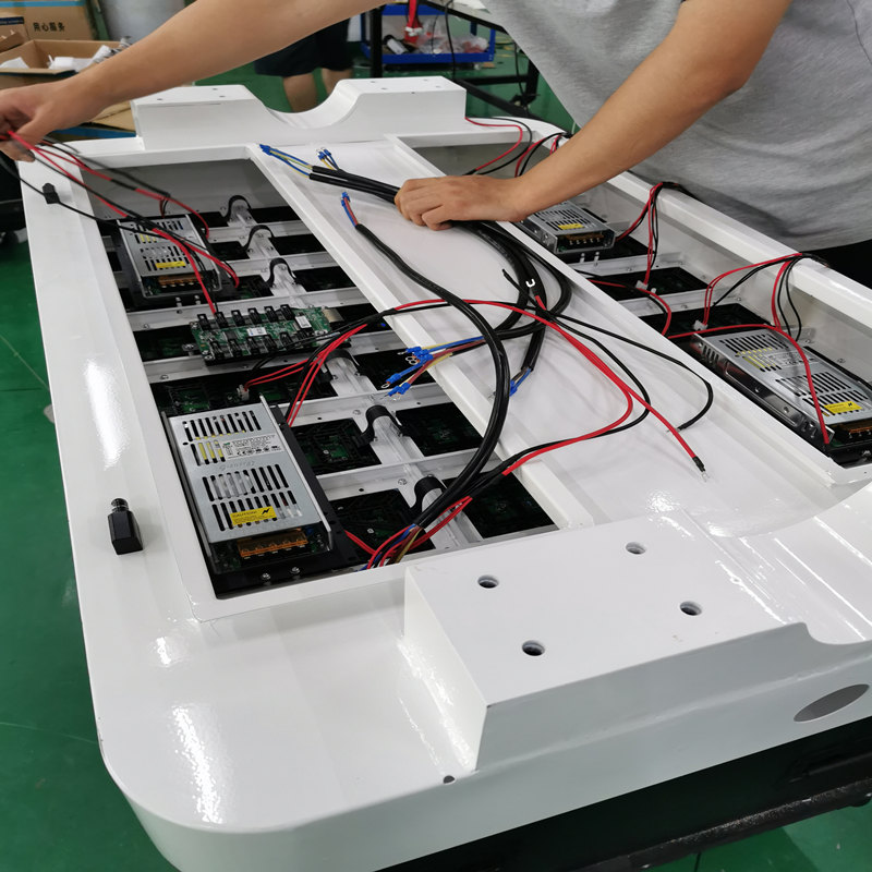 how to install pole LED screen display Unit LED