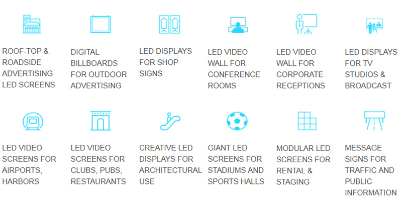 applications for LED display boards