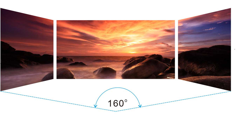 wide viewing angle of MA960 unit outdoor LED display screen